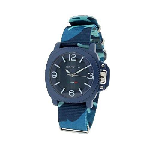 Uhr Zoppini Herren V1259 02i8 Quarz Batterie Aluminium Quandrante blau Armband Stoff