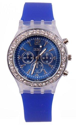 Armbanduhr Silikon Strass viele farben