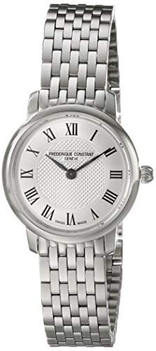 Frederique Constant Slim Line Mini Stainless Steel Womens Watch Silver Dial FC-200MCS6B