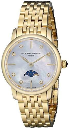 Frederique Constant Damen-Armbanduhr XS Analog Quarz Edelstahl FC-206MPWD1S5B