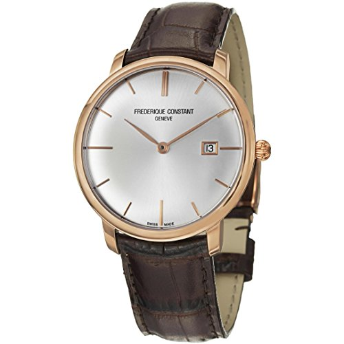 Frederique Constant Slim Line Automatic 18kt Rose Gold Mens Luxury Strap Watch FC 306V4S9