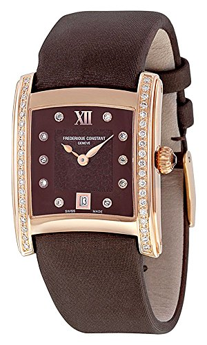 Frederique Constant Delight Carree Rose Gold Plated Diamond Womens Watch Date FC 220CHD2ECD4