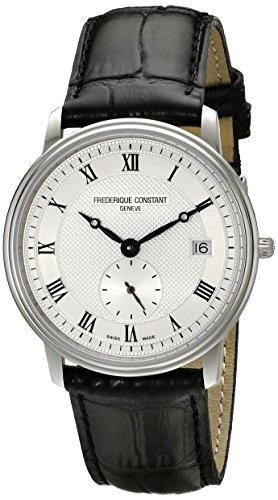 Frederique Constant fc245 m4s6 Armbanduhr Herren Armband in Silber Farbe schwarz
