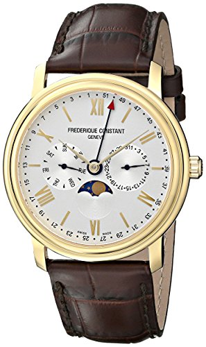 Frederique Constant fc270sw4p5 Armbanduhr Herren Lederband braun