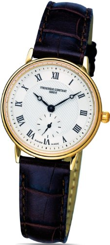 Frederique Constant Slim Line Mid size Gold Plated Steel Womens Watch FC 235M1S5