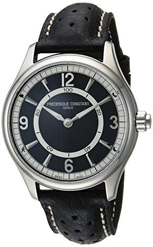 Frederique Constant Smartwatch Herren Armbanduhr 43mm Armband Leder Schwarz Batterie Analog FC 282AB5B6