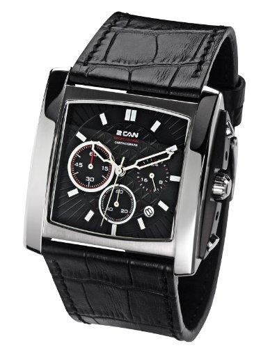 2 Can Professional Timepieces Glacier Gents SL1564C BK Elegante Massives Gehaeuse