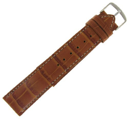 Hadley Roma 21 mm Alligator Grain Leder Tan Armbanduhr Band Herren