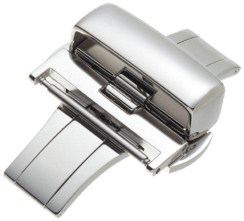 Hadley Roma Maenner BKL100W 22mm Edelstahl Faltschliesse SS Armband