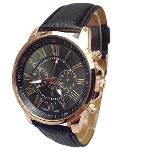 Susenstone 2015 Frauen Stilvolle Ziffern Leder analoge Quarz Armbanduhr