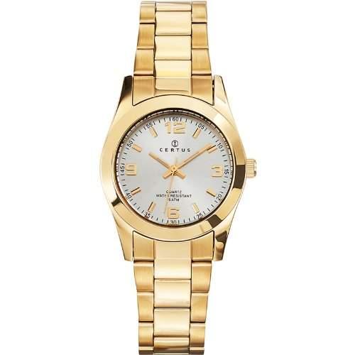 - 630756 Joalia Damen-Armbanduhr Alyce Quarz analog Stahl goldfarben