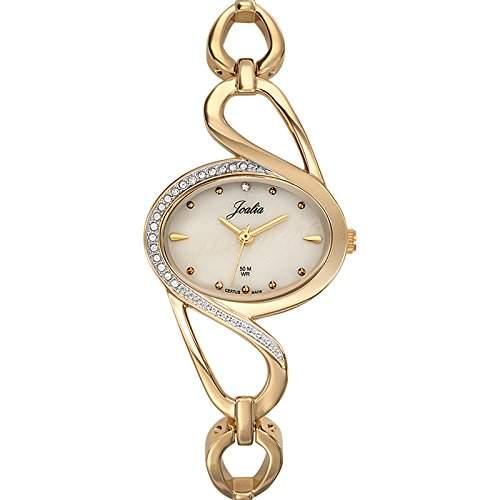 - 631807 Joalia Damen-Armbanduhr Alyce Quarz Analog Metall vergoldet