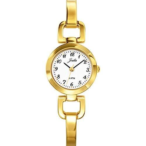 Joalia-631818Damen-Armbanduhr 045J699Analog weiss Armband Metall gold