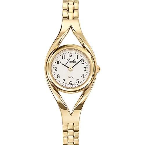 - 631848 Joalia Damen-Armbanduhr Alyce Quarz Analog Metall vergoldet