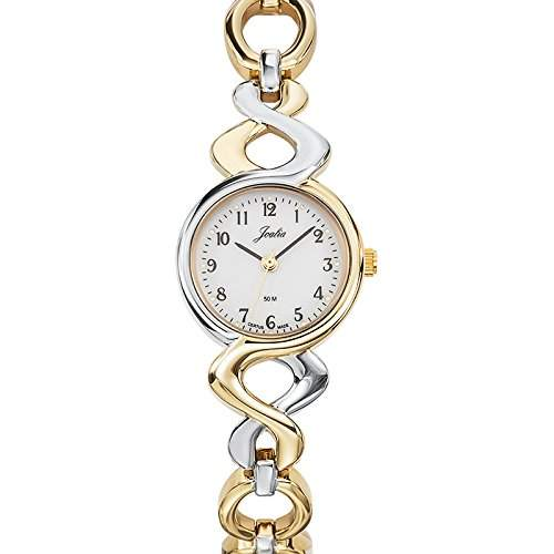 - 634543 Joalia Damen-Armbanduhr Alyce Quarz Analog Metall Zweifarbig