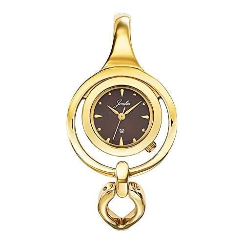 - 631846 Joalia Damen-Armbanduhr Alyce Quarz analog Armband Metall, braun-gold