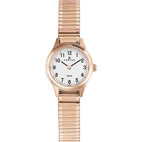 Joalia 630737 Damen Armbanduhr 045J699 Analog weiss Armband Stahl Rosa