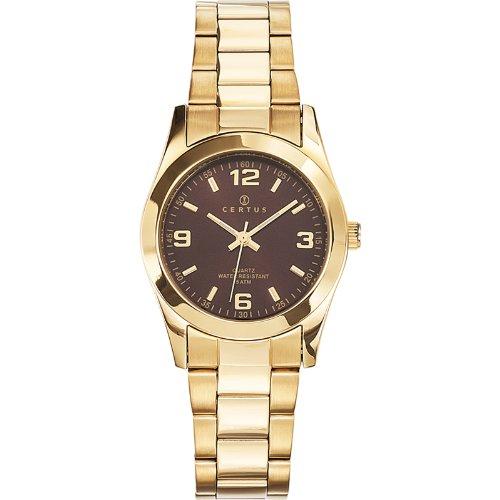 Joalia 630755 Damen Armbanduhr 045J699 Analog braun Armband Stahl Gold