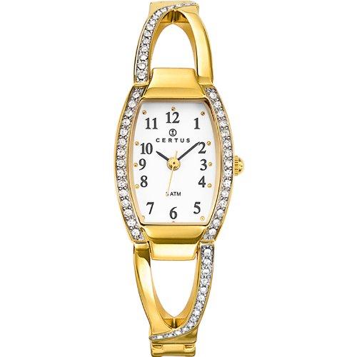 Joalia 631765 Damen Armbanduhr 045J699 Analog weiss Armband Metall gold