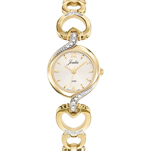 Joalia 631802 Damen Armbanduhr 045J699 Analog silber Armband Metall gold