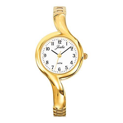 Joalia 631824 Damen Armbanduhr 045J699 Analog weiss Armband Metall gold
