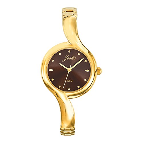 Joalia 631825 Damen Armbanduhr 045J699 Analog braun Armband Metall gold