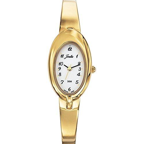 Joalia 631831 Damen Armbanduhr 045J699 Analog weiss Armband Metall gold