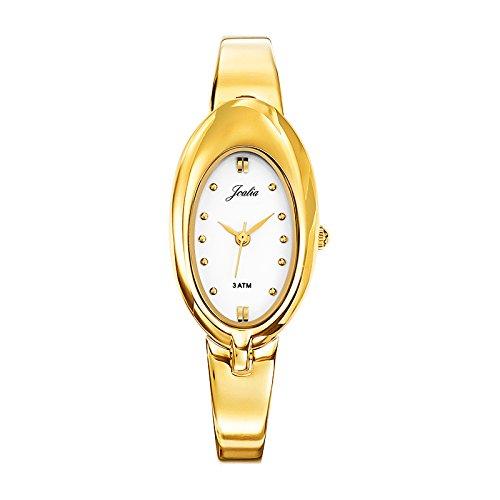 Joalia 631832 Damen Armbanduhr 045J699 Analog weiss Armband Metall gold