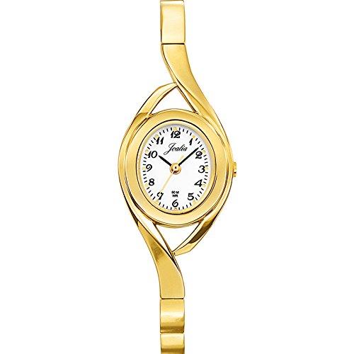 Joalia 631838 Damen Armbanduhr 045J699 Analog weiss Armband Metall gold