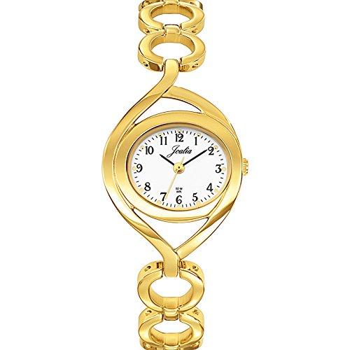 Joalia 631841 Damen Armbanduhr 045J699 Analog weiss Armband Metall gold