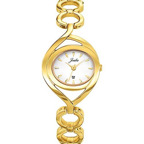 Joalia 631842 Damen Armbanduhr 045J699 Analog silber Armband Metall gold