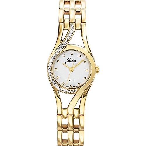 Joalia 631862 Damen Armbanduhr 045J699 Analog weiss Armband Metall gold