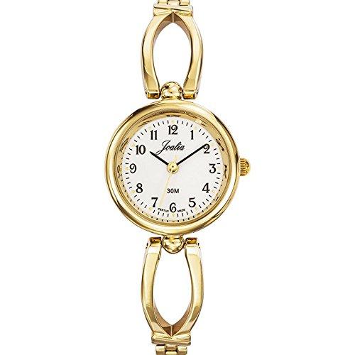 Joalia 631877 Damen Armbanduhr 045J699 Analog weiss Armband Metall gold