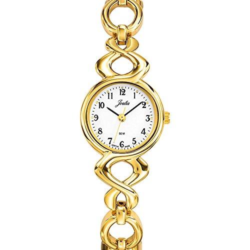 Joalia 631883 Damen Armbanduhr 045J699 Analog weiss Armband Metall gold