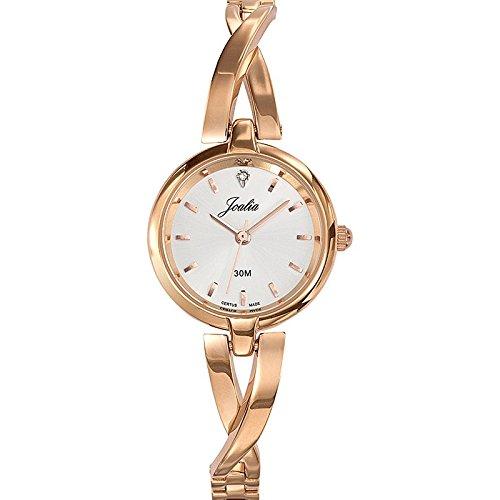 Joalia 631920 Damen Armbanduhr 045J699 Analog silber Armband Metall Rosa
