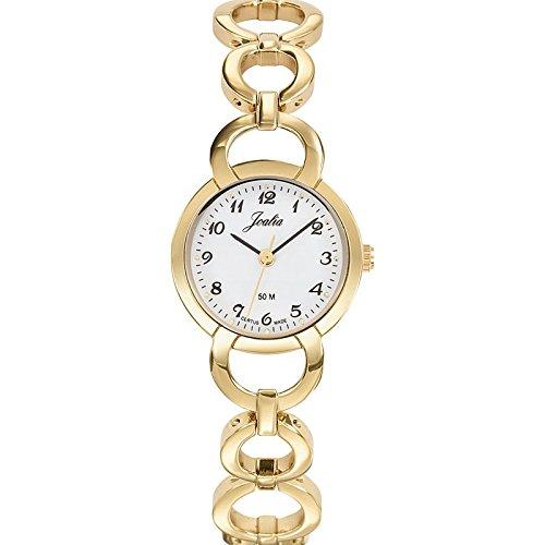 Joalia 631930 Damen Armbanduhr 045J699 Analog weiss Armband Metall gold