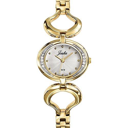 Joalia 631935 Damen Armbanduhr 045J699 Analog silber Armband Metall gold