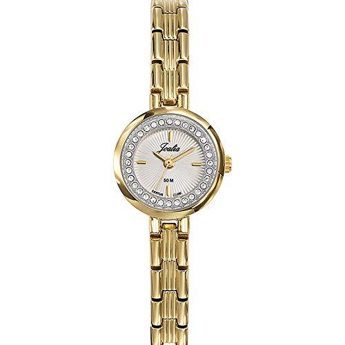Joalia 631936 Damen Armbanduhr 045J699 Analog silber Armband Metall gold
