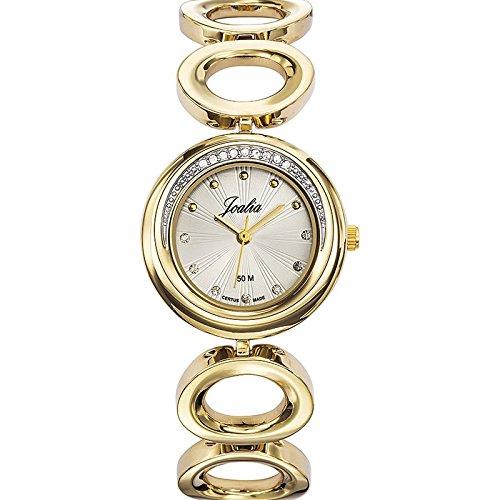 Joalia 631939 Damen Armbanduhr 045J699 Analog silber Armband Metall gold