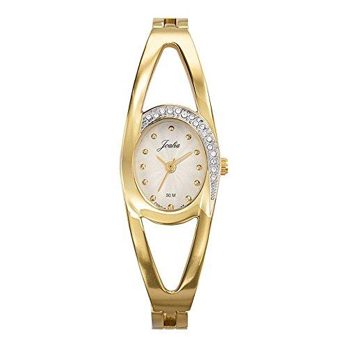 Joalia 631941 Damen Armbanduhr 045J699 Analog silber Armband Metall gold