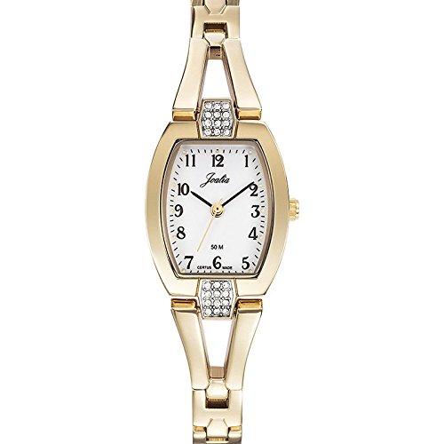 Joalia 631943 Damen Armbanduhr 045J699 Analog weiss Armband Metall gold
