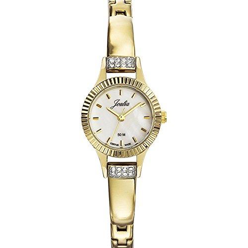 Joalia 631945 Damen Armbanduhr Quarz Analog Ziffernblatt Perlmutt Armband Metall gold