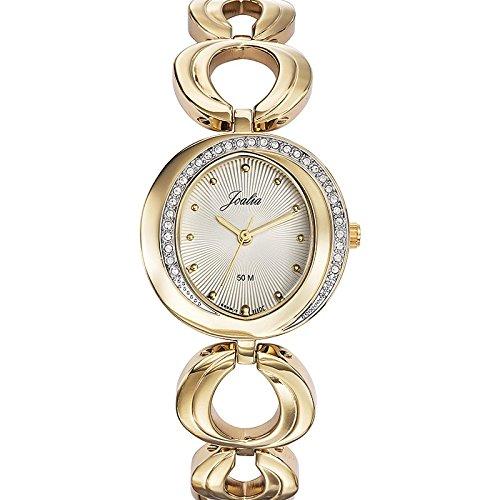 Joalia 631947 Damen Armbanduhr 045J699 Analog silber Armband Metall gold