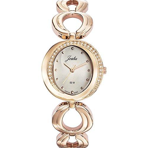 Joalia 631948 Damen Armbanduhr 045J699 Analog silber Armband Metall Rosa