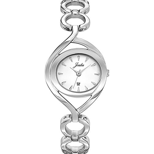 Joalia 633265 Damen Armbanduhr 045J699 Analog silber Armband Metall silber