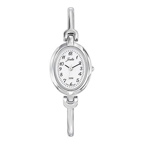 Joalia 633300 Damen Armbanduhr 045J699 Analog weiss Armband Metall silber