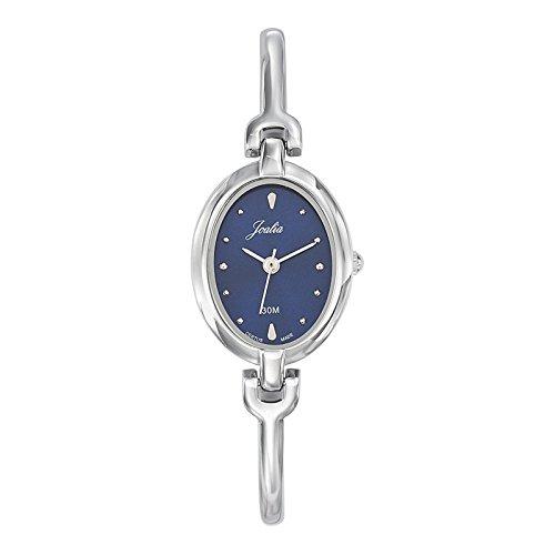 Joalia 633301 Damen Armbanduhr Quarz Analog Zifferblatt Blau Armband Metall silber