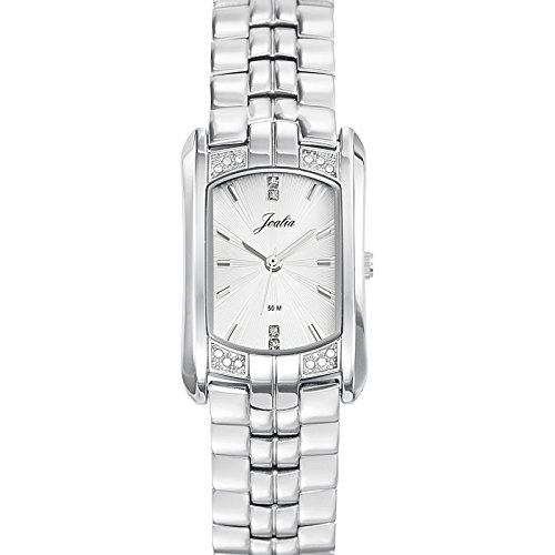 Joalia 633303 Damen Armbanduhr 045J699 Analog silber Armband Metall silber