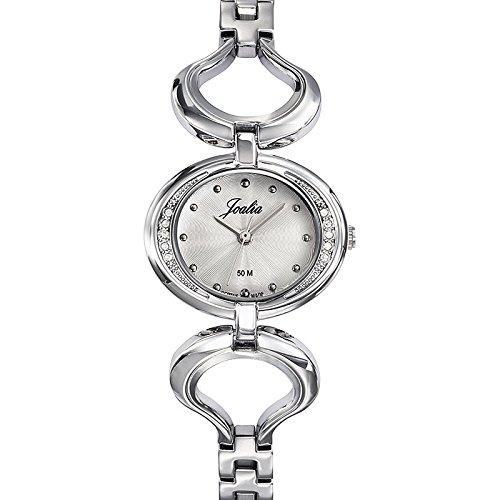 Joalia 633335 Damen Armbanduhr 045J699 Analog silber Armband Metall silber