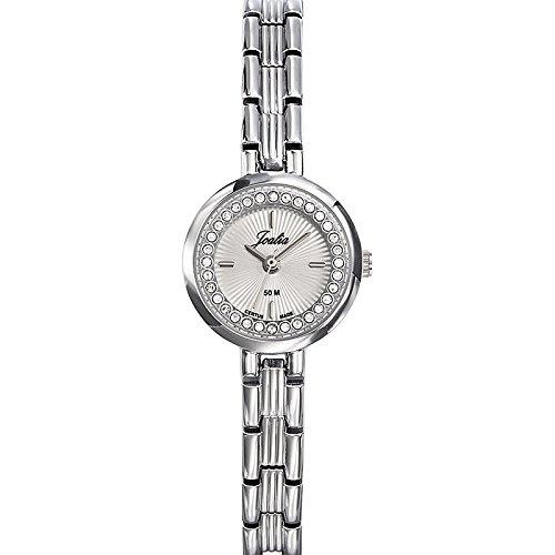 Joalia 633338 Damen Armbanduhr 045J699 Analog silber Armband Metall silber